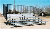 Bleachers, 4 ROW No-Elevated Std Rise No Aisles