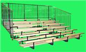 "Folding Bleachers 5 Row 48"" Aisles S.A.T."