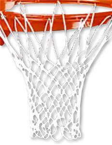 Markwort Anti-Whip Basketball Net White