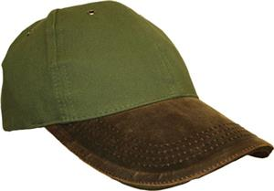 ROCKPOINT Forest Green/Brown Sportsman Cap. Embroidery is available on this item.