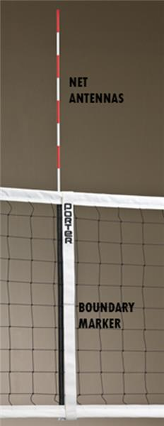 Porter Volleyball Boundary Markers W Net Antennas Epic Sports