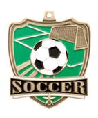 "Hasty Awards 2.5"" Soccer Shield Medals M-735S"