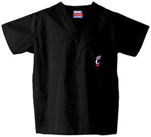 University of Cincinnati Black Classic Scrub Tops