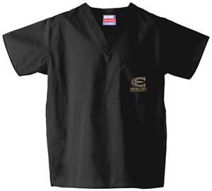 Emporia State Univ Black Classic Scrub Tops