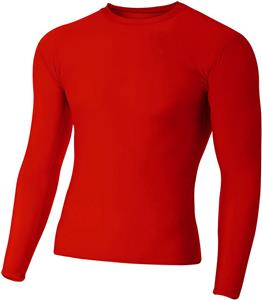 A4 Long Sleeve Compression Crew Shirts