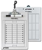 2 Sided Football Coachs's Dry Erase Clip Board