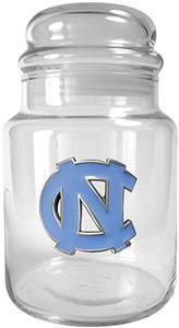 NCAA U of N Carolina Glass Candy Jar
