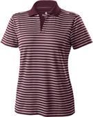 Womens Short Sleeve Helix Engineered Stripe Polo