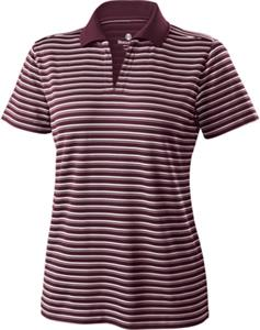 Womens Short Sleeve Helix Engineered Stripe Polo. Embroidery is available on this item.