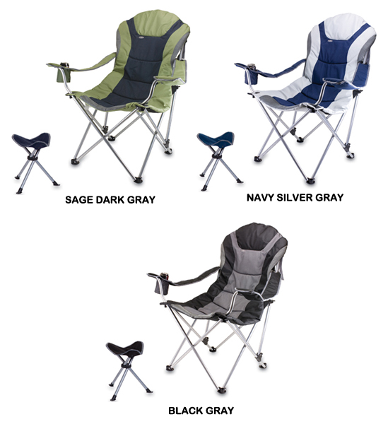 Pleasing Picnic Time Reclining Camp Chair With Footrest Creativecarmelina Interior Chair Design Creativecarmelinacom