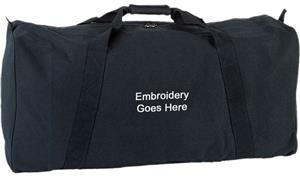 Champion Sports 22oz. Canvas Zippered Duffle Bags. Embroidery is available on this item.