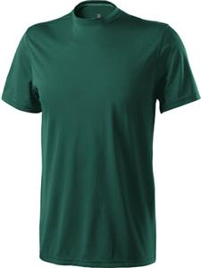 Adult & Youth Green Heathered Interlock Shirt CO. Printing is available for this item.