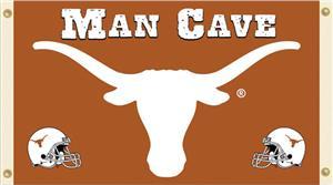 Collegiate Texas Longhorns Man Cave 3' x 5' Flag