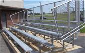 5 Row Standard Aluminum Bleachers Non-Elevated