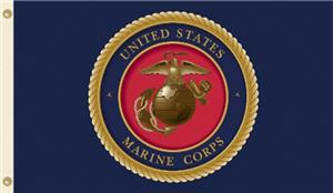 US Marine Corps 3' x 5' Flag with Grommets