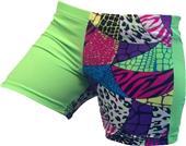 Gem Gear 4 Panel Green Neon Jungle Shorts
