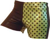 Gem Gear 4 Panel Metallic Green Dots Shorts