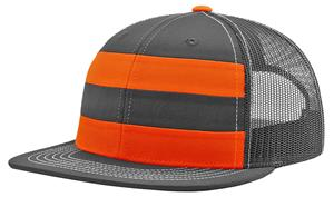 Richardson 162 Striped Trucker Flatbill Cap - Closeout Sale - Soccer ... 9456fc16a630