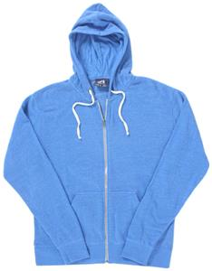 J America Adult Tri-Blend Full Zip Fleece Hoodie. Decorated in seven days or less.