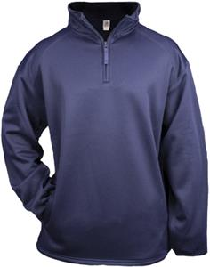 Badger 1/4 Zip Poly Performance Fleece Pullovers. Decorated in seven days or less.