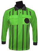 Soccer Referee Jerseys Long Sleeve-LIME Closeout