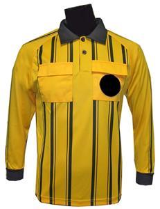 Soccer Referee Jerseys Long Sleeve-GOLD Closeout