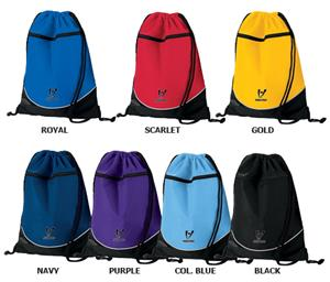 High Five Nylon Drawstring Backpacks