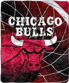 """Northwest NBA Chicago Bulls 50""""x60"""" Sherpa Throw"""
