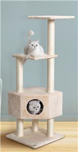 """Go Pet Club 51"""" Beige Cat Tree Condo Furniture"""