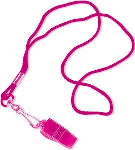 Tandem Sport Pink Pea-less Whistle and Lanyard