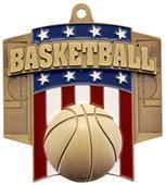 Hasty Awards Patriot Basketball Medal M-776B