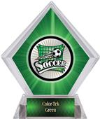 Xtreme Soccer Green Diamond Ice Trophy