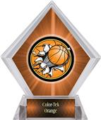Bust-Out Basketball Orange Diamond Ice Trophy