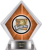 Xtreme Basketball Orange Diamond Ice Trophy