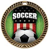Hasty Awards Crest Soccer Medal Patriot M-8650S
