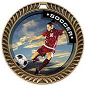 Hasty Award Crest Soccer Medal P.R. Female M-8650S