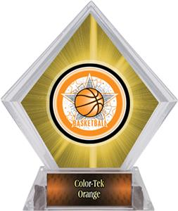 All-Star Basketball Yellow Diamond Ice Trophy