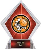 Bust-Out Basketball Red Diamond Ice Trophy