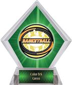 Award Classic Basketball Green Diamond Ice Trophy