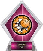 Bust-Out Basketball Pink Diamond Ice Trophy