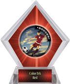 P.R. Female Soccer Red Diamond Ice Trophy
