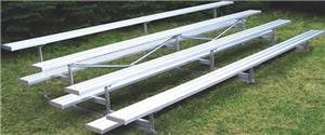 Jaypro 4 Row Standard Aluminum/Galvanized Bleacher