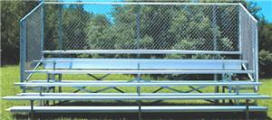 Jaypro 5 Row 27'  Bleachers W/Chain Link Enclosure