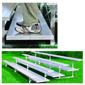 Jaypro All Aluminum 3 Row 27' Preferred Bleacher