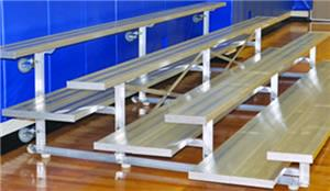 Jaypro Tip & Roll 27' Aluminum Preferred Bleacher