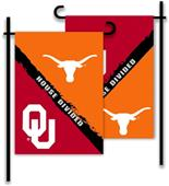 COLLEGIATE Oklahoma - Texas House Divided Flag