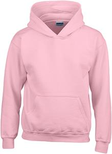 Gildan Pink Heavy Blend Hooded Sweatshirts. Decorated in seven days or less.