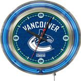 Holland NHL Vancouver Canucks Neon Logo Clock