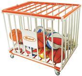 Markwort Stag 36 Balls Basketball Steel Cage Cart