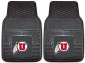 Fan Mats University of Utah Vinyl Car Mats (set)